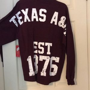 Texas A&M  distressed long sleeve